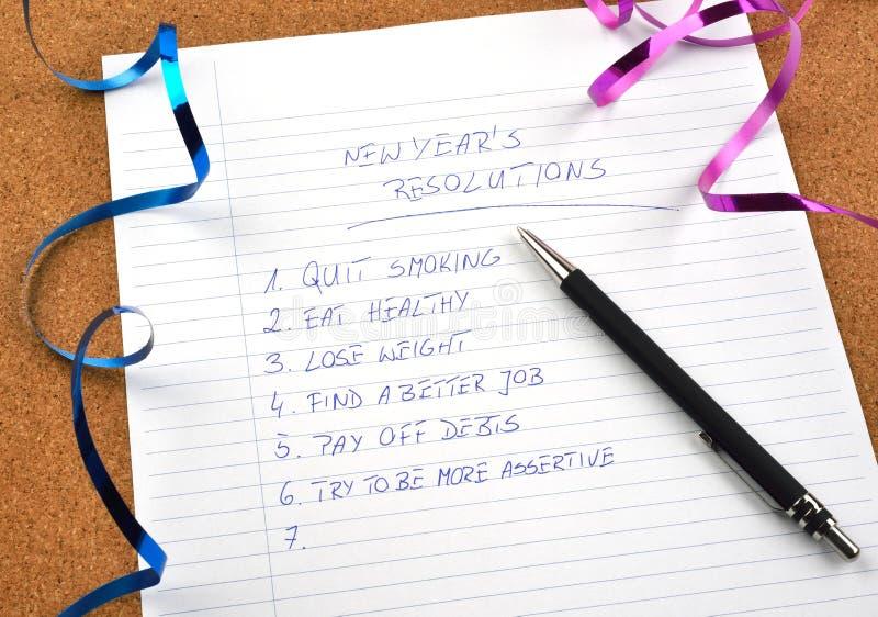 Nowy Rok faborki postanowienia i obraz royalty free
