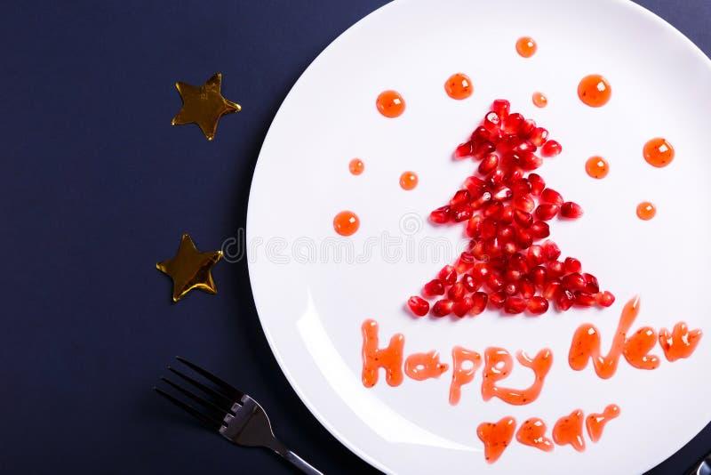 Nowy Rok gratulacje fotografia royalty free