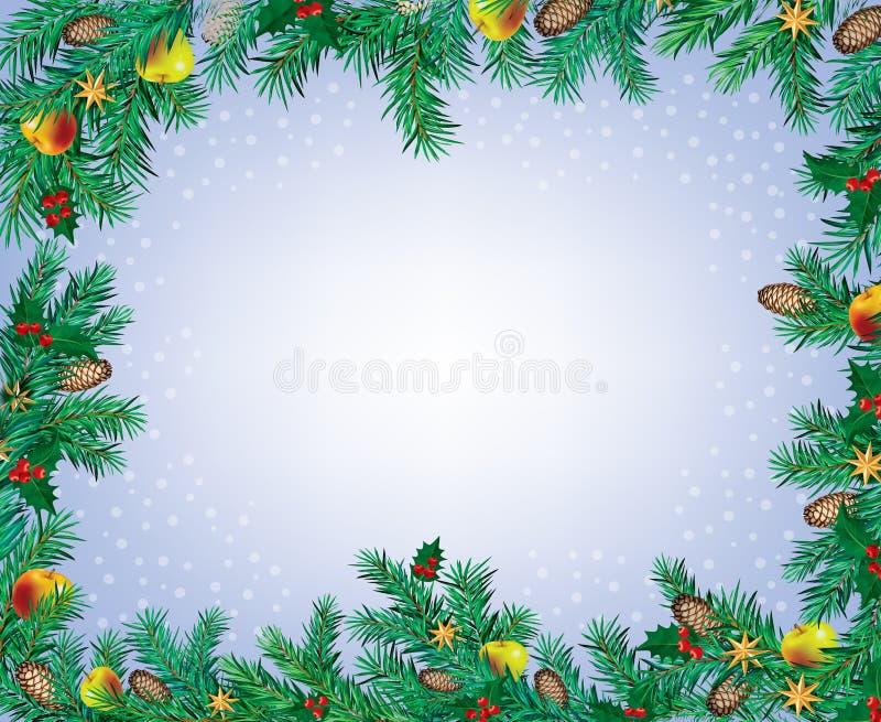 Nowy Rok i Boże Narodzenie rama ilustracji