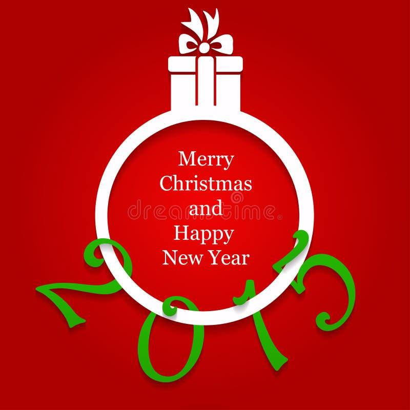 2015 nowy rok i kartka bożonarodzeniowa ilustracja wektor