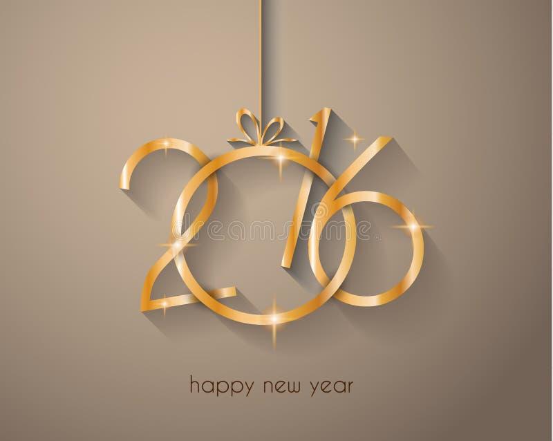 2016 nowy rok i Szczęśliwych bożych narodzeń tło royalty ilustracja