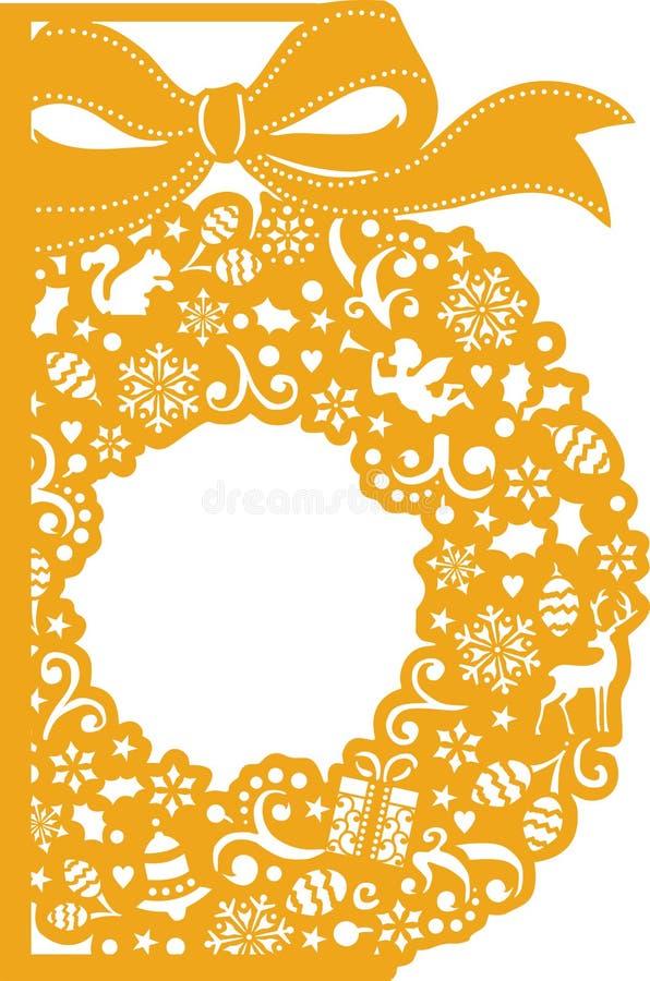 nowy rok, ilustracja Laserowy tnący szablon zdjęcie royalty free