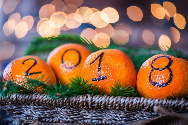 Nowy Rok 2018 jest nadchodzącym pojęciem zdjęcie stock