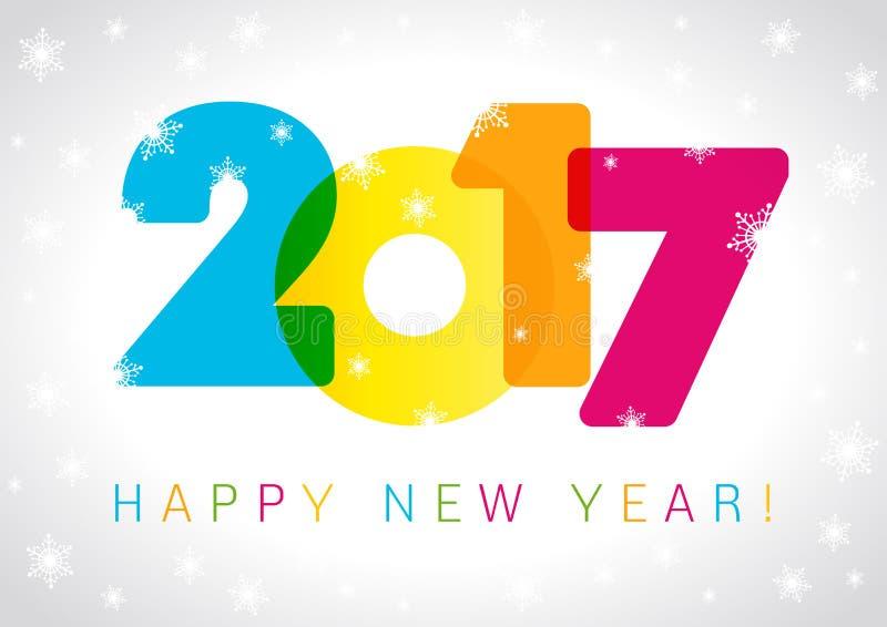 2017 nowy rok karta royalty ilustracja