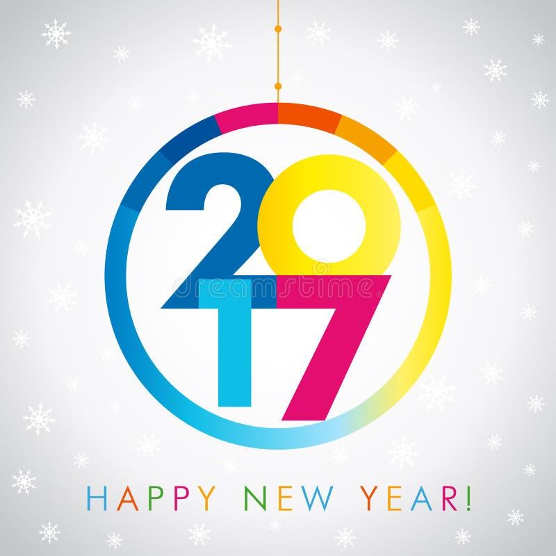 2017 nowy rok karta ilustracja wektor