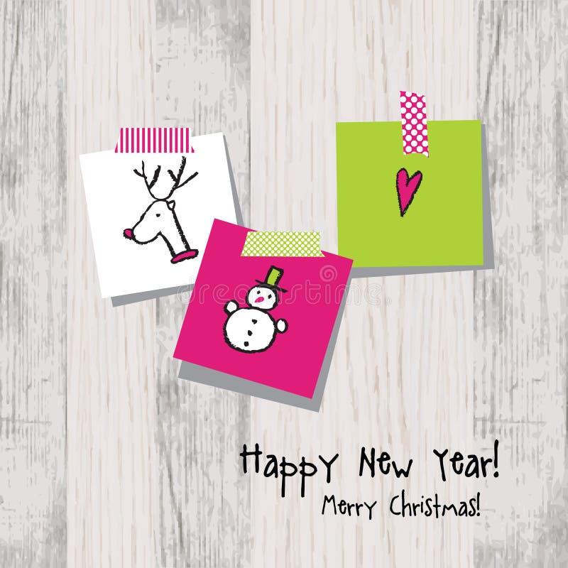 Nowy rok karta 2017 z kopii przestrzenią ilustracji