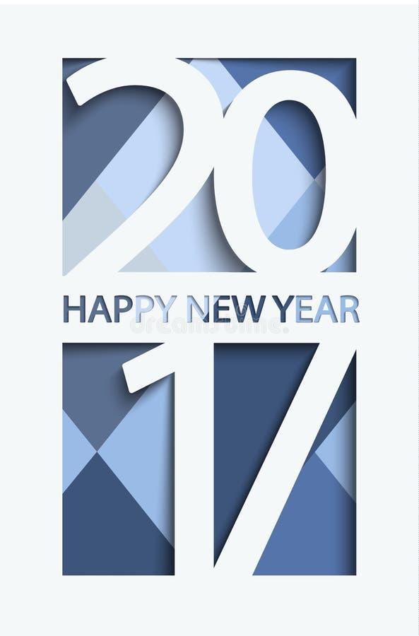 Nowy 2017 rok kartka z pozdrowieniami, wektor ilustracja wektor