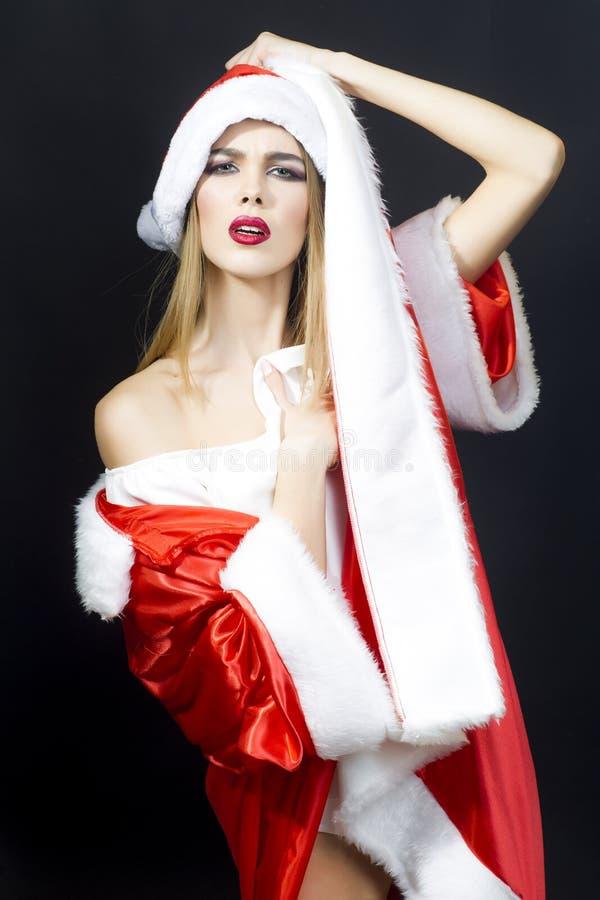 Nowy rok kobieta zdjęcia stock
