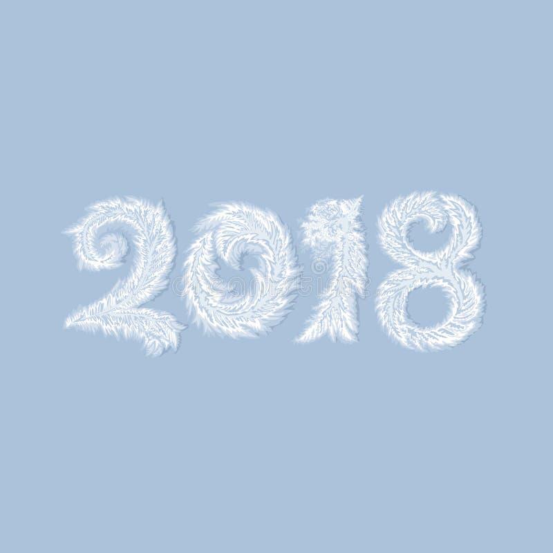 2018 nowy rok Mroźny tło royalty ilustracja