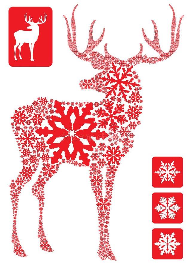 nowy rok na jelenie ilustracja wektor