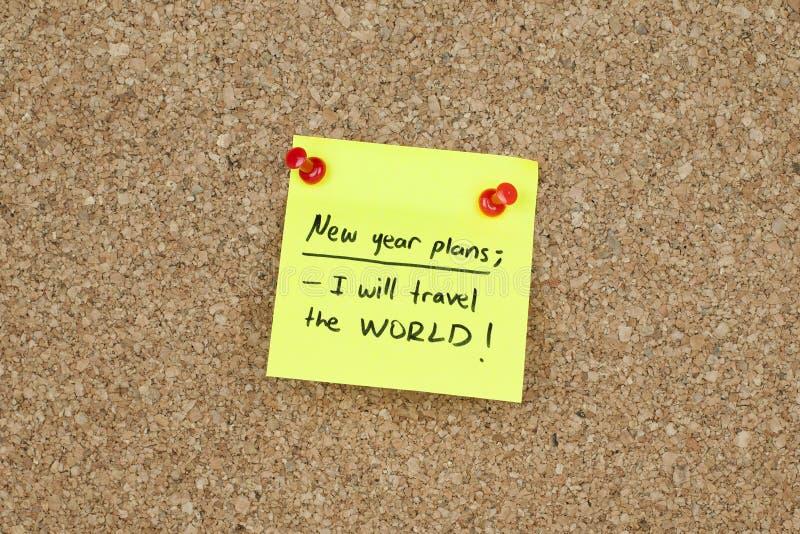 Nowy Rok Podróżuje świat Planuje postanowienia obraz royalty free