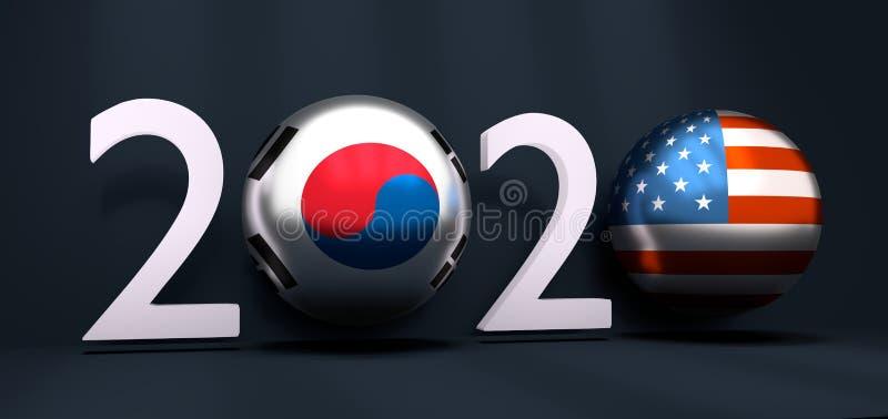2020 nowy rok pojęcie ilustracja wektor