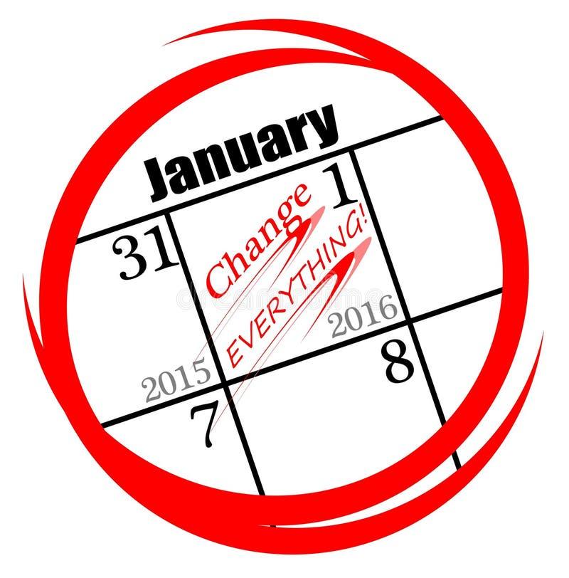 2016 nowy rok postanowień ilustracji