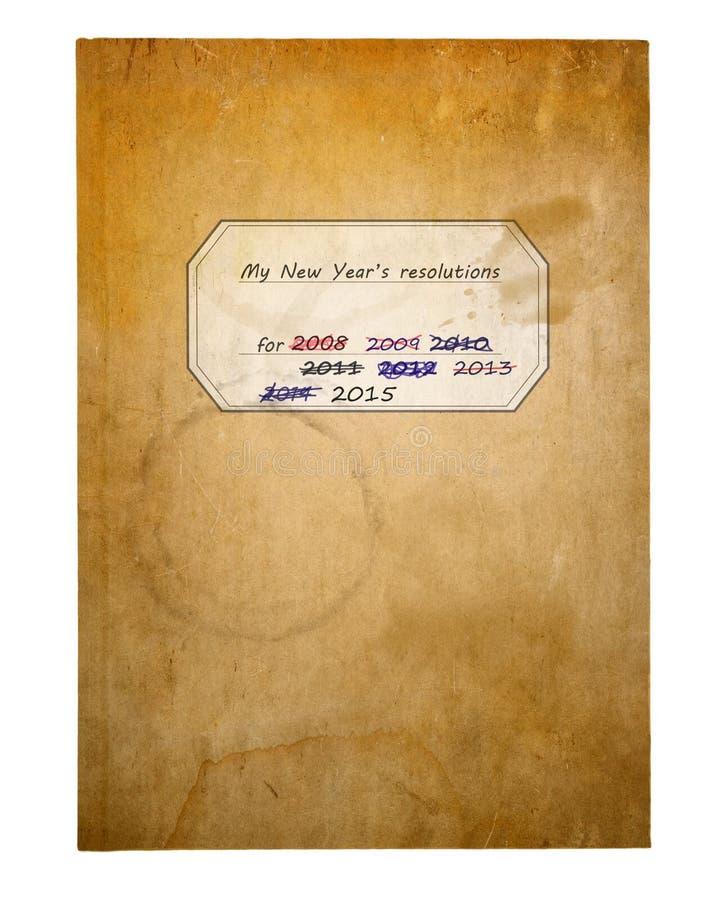 Nowy Rok postanowień książka obrazy stock