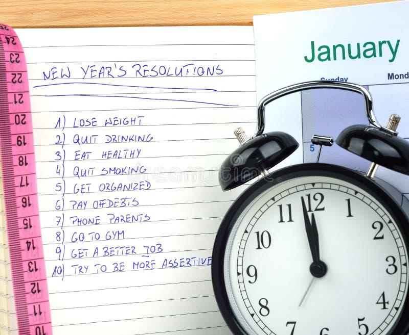Nowy Rok postanowienia fotografia royalty free