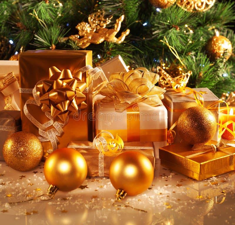 Nowy Rok prezenty zdjęcia stock