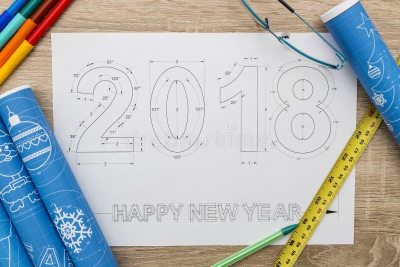 2018 nowy rok projekt fotografia royalty free