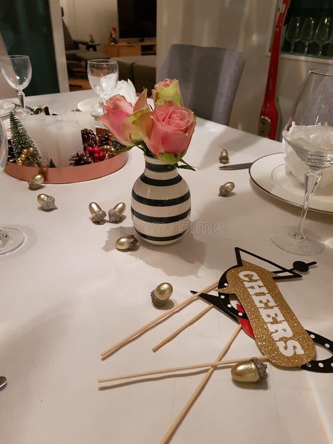 Nowy Rok stołowa dekoracja obrazy royalty free
