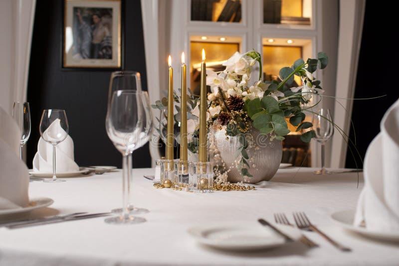 Nowy Rok stołowa dekoracja zdjęcie stock