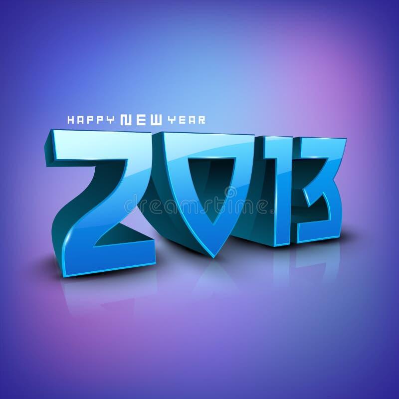 Nowy rok stylizowani 2013 Szczęśliwych tło. ilustracji