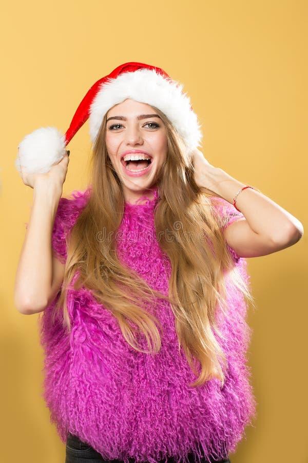 Nowy rok szczęśliwa Kobieta zdjęcie stock