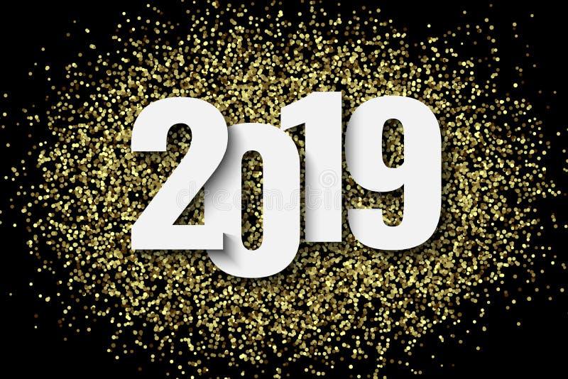 2019 nowy rok tło royalty ilustracja