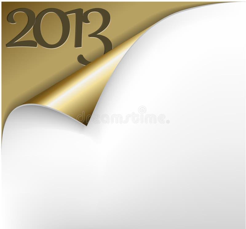 Nowy rok wektorowa Bożenarodzeniowa Karta 2013 ilustracja wektor