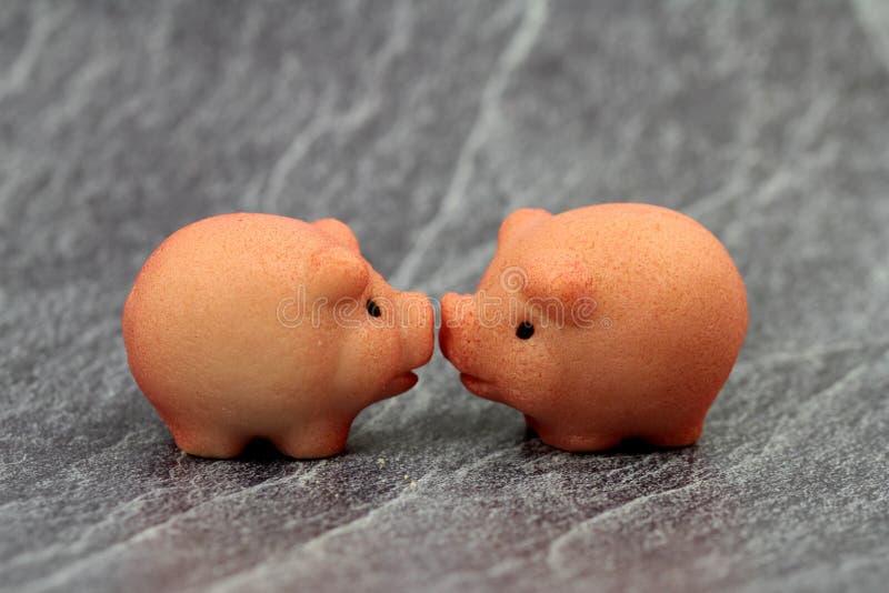 nowy rok wigilia, szczęsliwa symbolu cukierki świnia fotografia stock