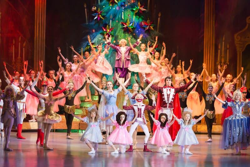 Nowy Rok występu przy Kulturalnym centrum ZIL obraz royalty free