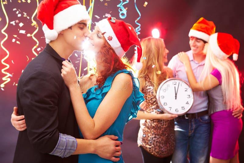 Nowy Rok z nasi bliskimi obraz royalty free