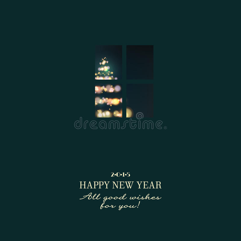 Nowy rok zaproszenie ilustracji