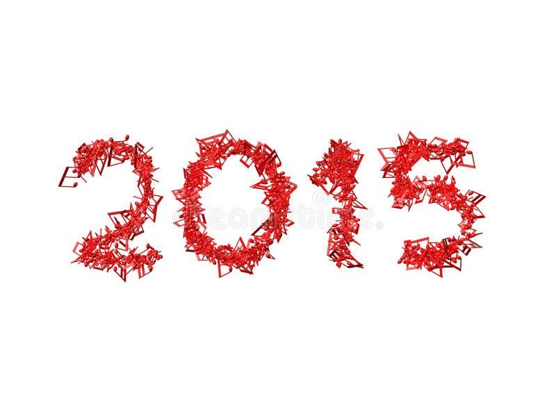 Nowy rok 2015 zrobił od notatek ilustracja wektor