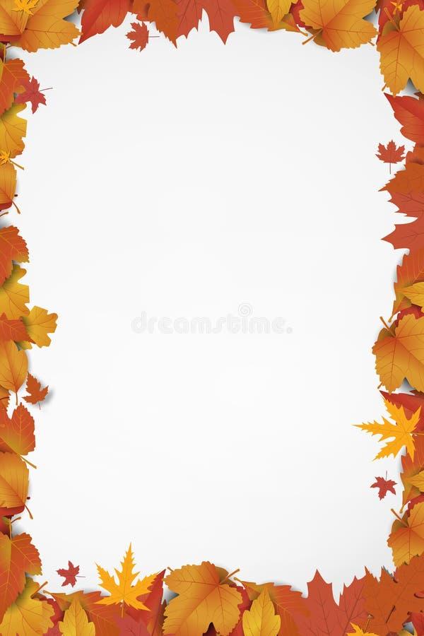 Nowy słodki jesieni tło ilustracji