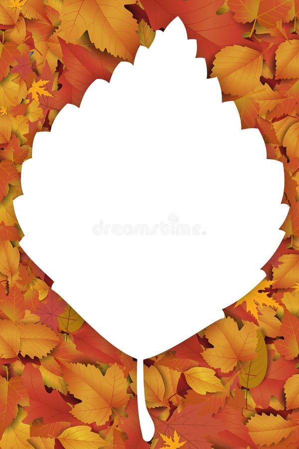 Nowy słodki jesieni tło ilustracja wektor