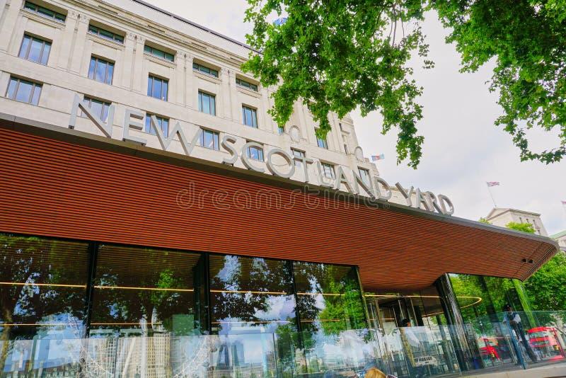 Nowy Scotland Yard Lokuje Londyńskiego Anglia obraz stock