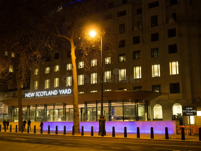 Nowy Scotland Yard, Londyn zdjęcia royalty free