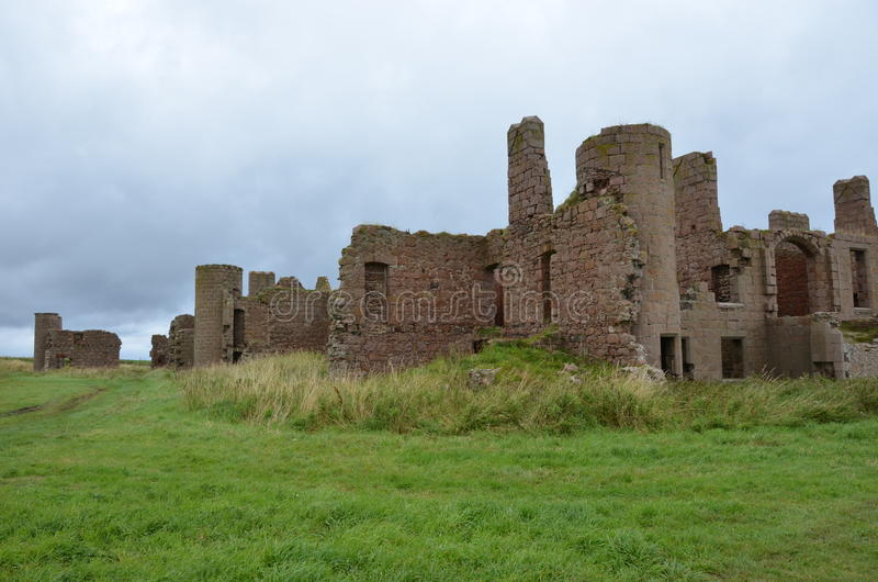 Nowy Slains kasztel, Aberdeenshire, Szkocja obrazy royalty free