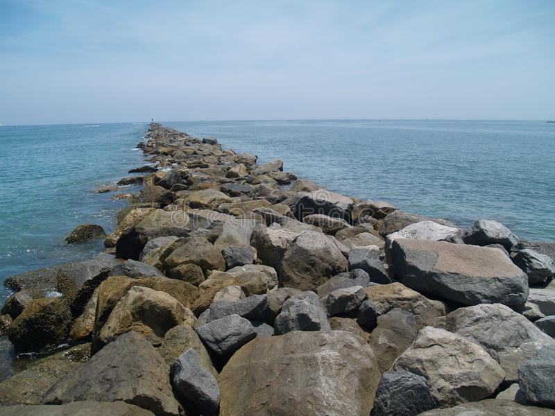 Nowy Smyrna plaży Jetty zdjęcia royalty free