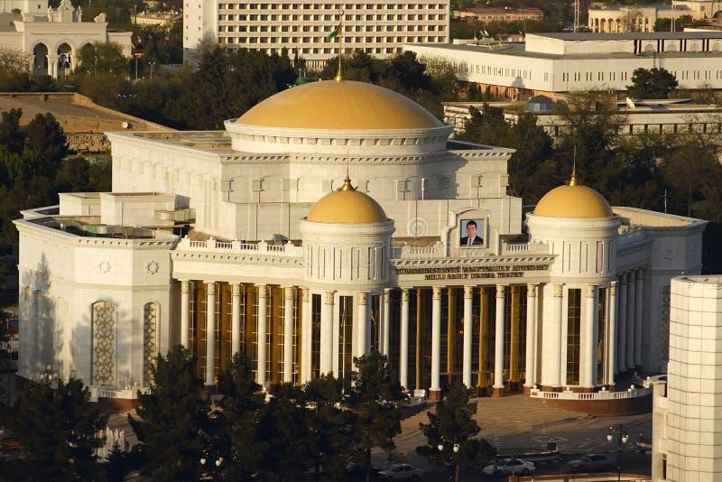 Nowy theatre w Ashkhabad. Turkmenistan obrazy stock