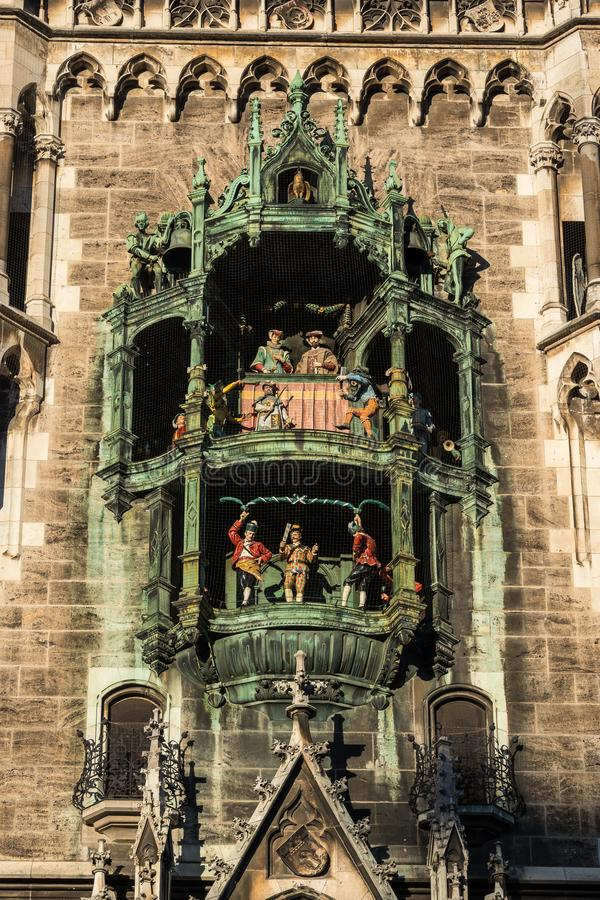 Nowy urz?d miasta przy Marienplatz w Monachium, Bavaria, Niemcy zdjęcie stock