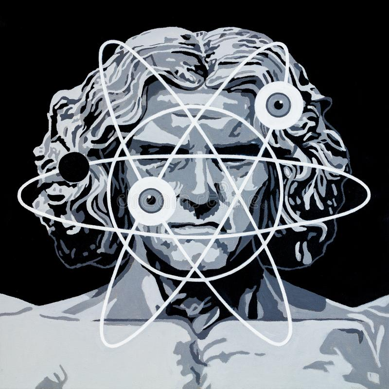 Nowy Vitruvian mężczyzna ilustracji
