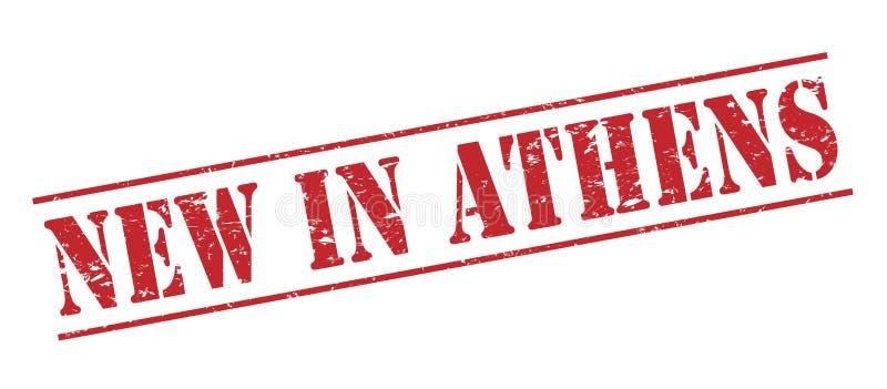 Nowy w Athens znaczku ilustracja wektor