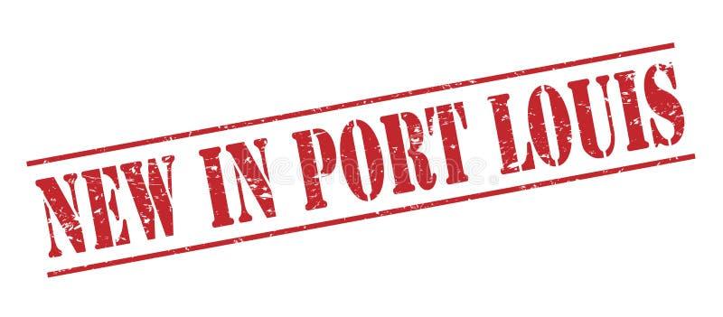 Nowy w portowym Louis znaczku royalty ilustracja