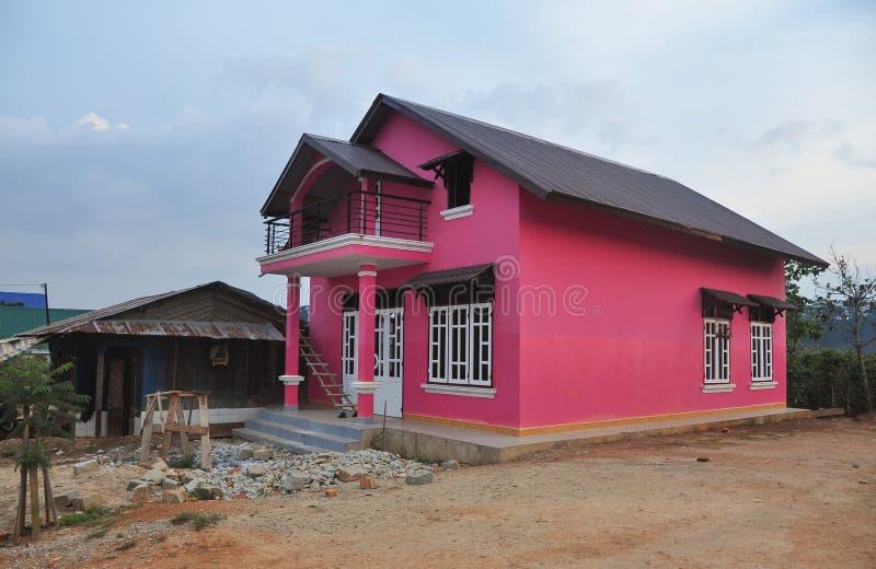 Nowy wiejski dom w Dalat, Wietnam zdjęcie stock
