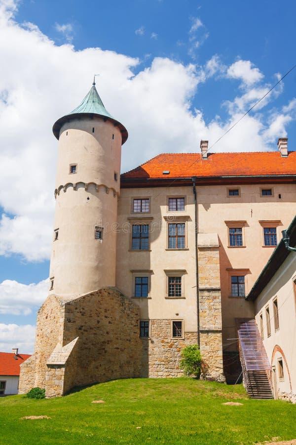 Nowy Wisnicz城堡看法  图库摄影