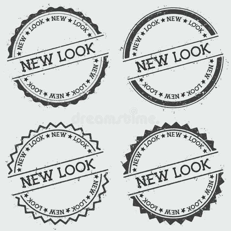 Nowy wygląd insygnia znaczek odizolowywający na bielu royalty ilustracja