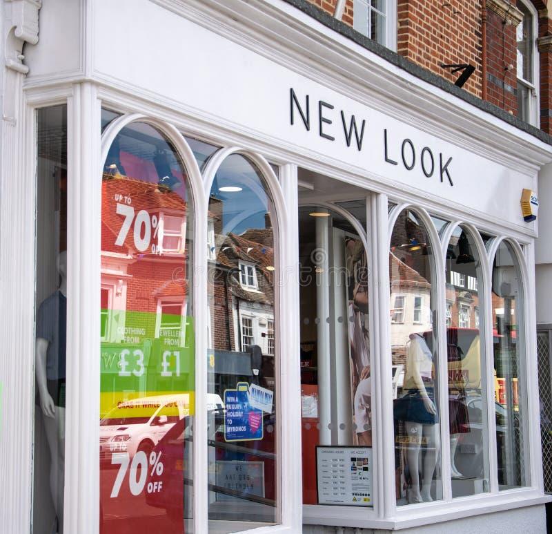 Nowy Wygląd sklep pierzeja obrazy stock