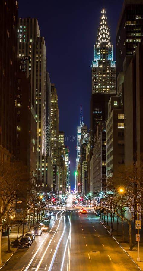 nowy York noc zdjęcia stock