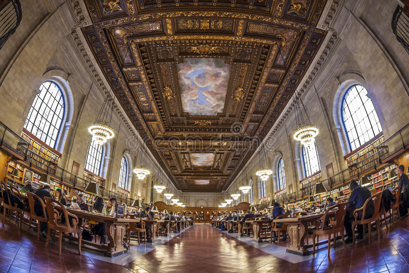 nowy York publicznej biblioteki obrazy stock