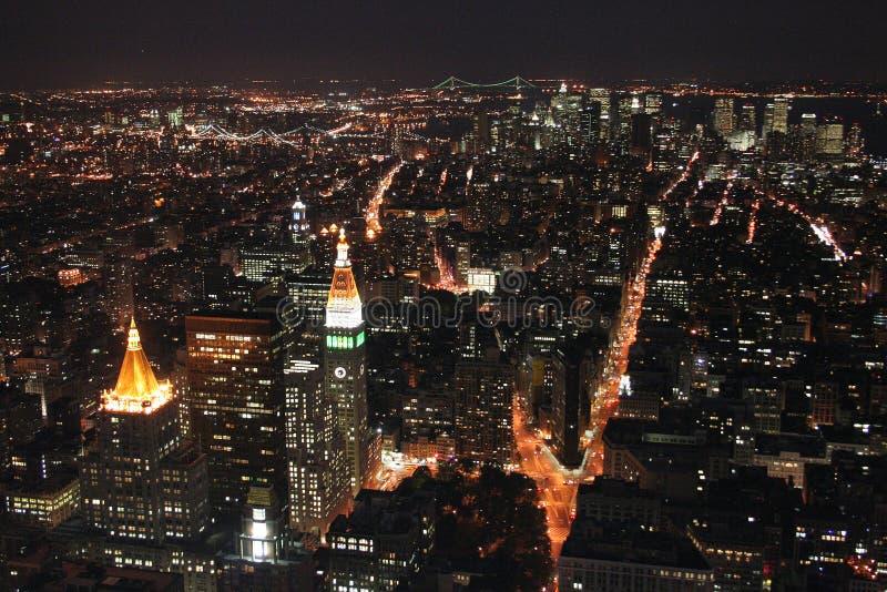 nowy York ruchu noc obraz royalty free